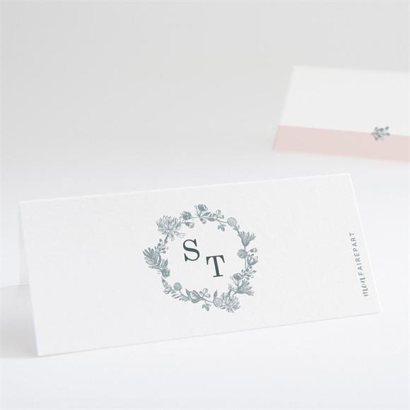 Marque-place mariage Guirlande de fleurs réf.N440743