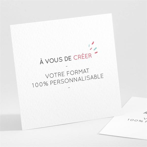Invitation anniversaire Carré à créer réf.N301181