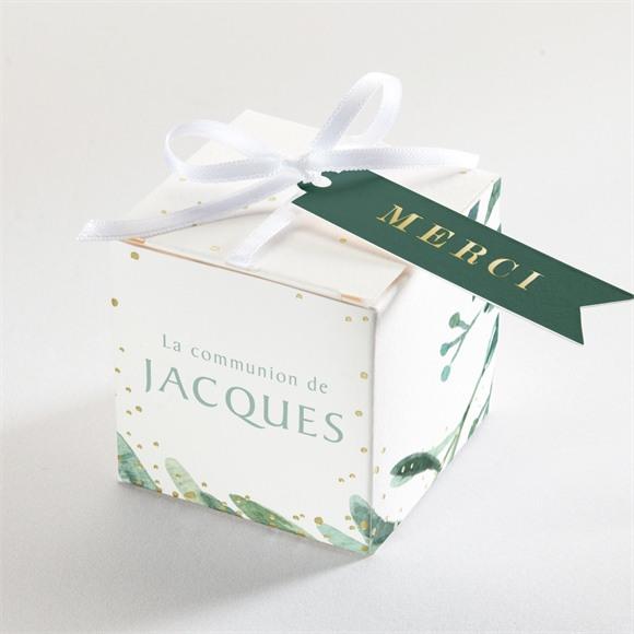 Boîte de dragées communion Végétal et dorure réf.N340275