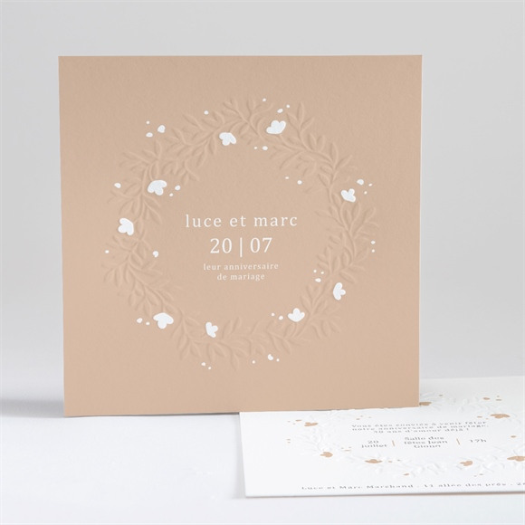 Invitation anniversaire de mariage Carte en relief réf.N35168