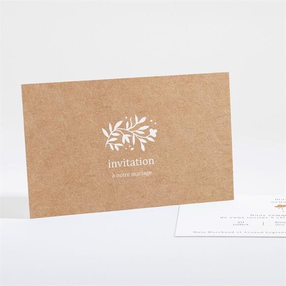 Carton d'invitation mariage Gravure réf.N16194