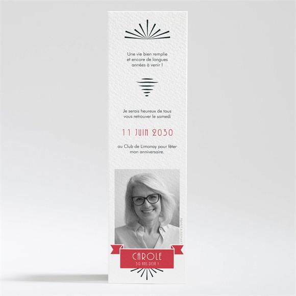 Invitation anniversaire Marque page original réf.N200333