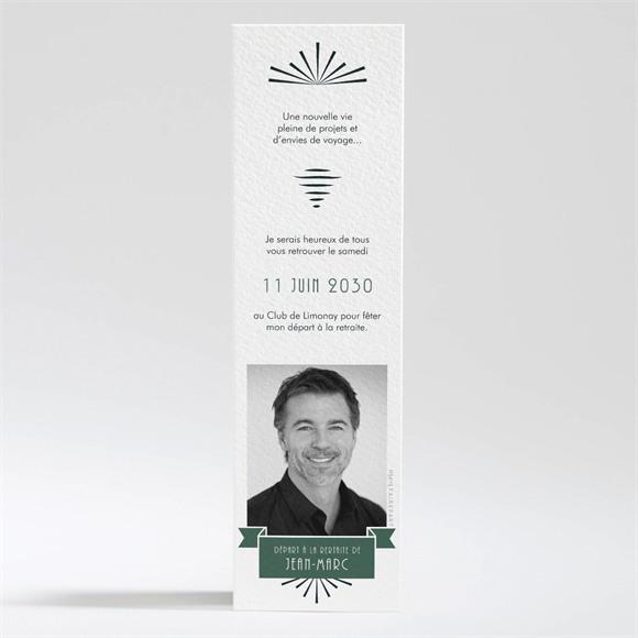 Carte invitation départ à la retraite Invitation marque page réf.N200334