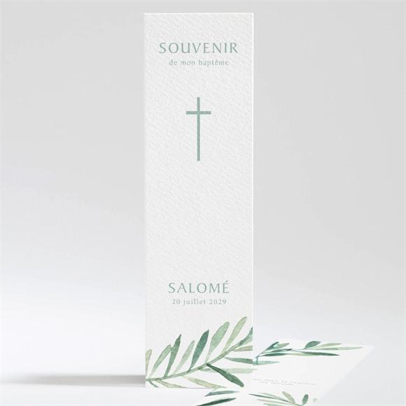 Signet baptême Feuilles et Or réf.N201104