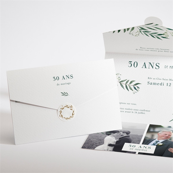 Invitation anniversaire de mariage ALL IN ONe invitation réf.N97113