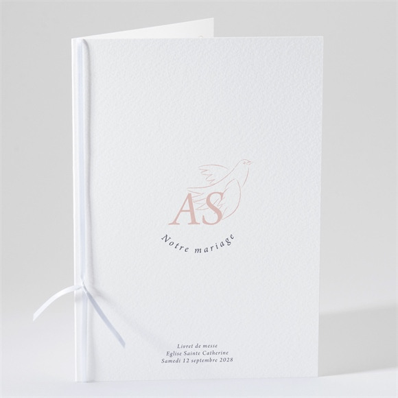 Livret de messe mariage L'Essentiel en initiales réf.N491186