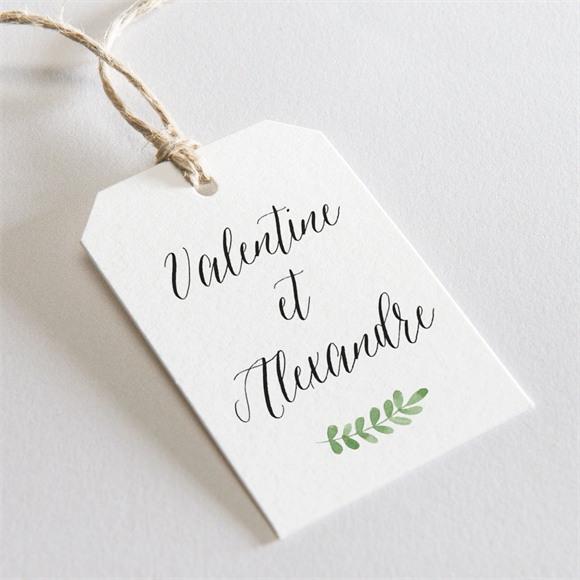Etiquette mariage Fraicheur d'été réf.N29152