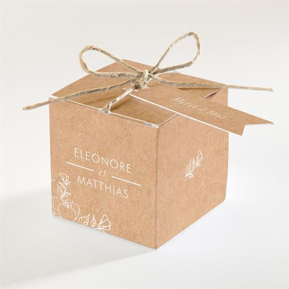 Boîte de dragées mariage Gravure élégante réf.N340288