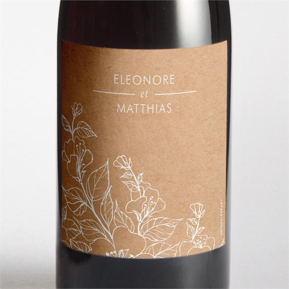 Etiquette de bouteille mariage Gravure élégante réf.N3001605
