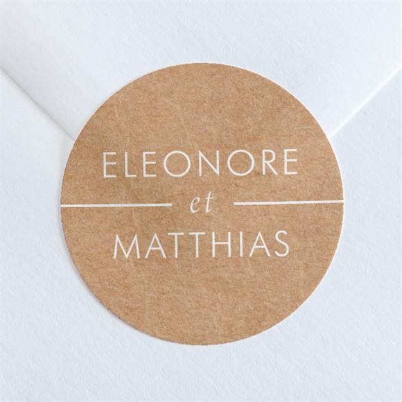 Sticker mariage Gravure élégante réf.N36051