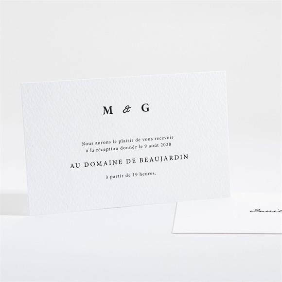 Carton d'invitation mariage Epuré réf.N161100