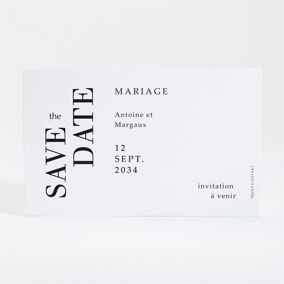 Save the Date mariage Lettering réf.N16002
