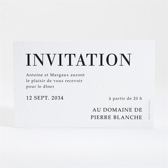 Carton d'invitation mariage Lettering réf.N16003
