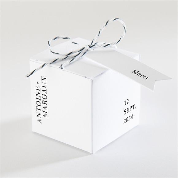 Boîte de dragées mariage Lettering réf.N340291