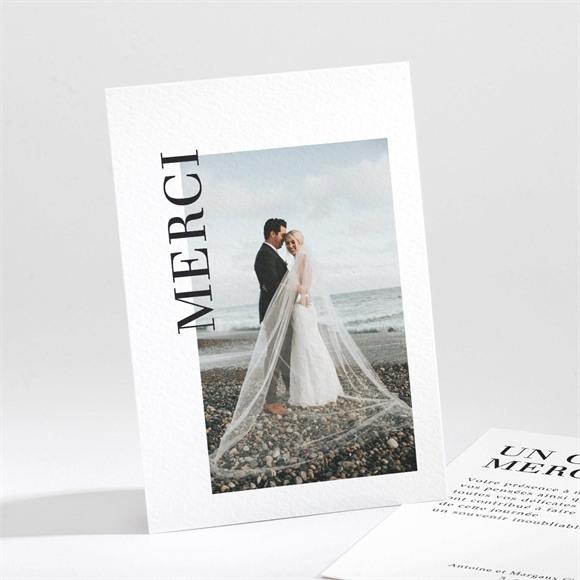 Remerciement mariage Lettering réf.N211268