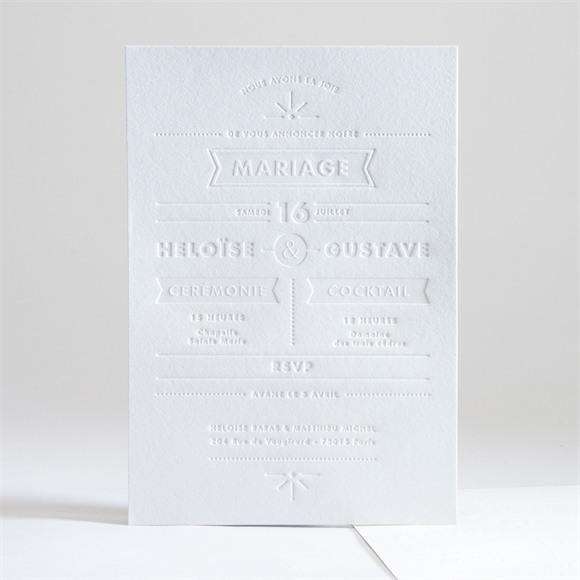 Faire-part mariage Prouesse en papier réf.N241195
