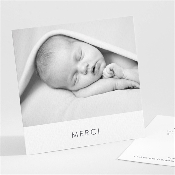 Remerciement naissance Notre Coeur réf.N301200