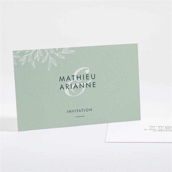 Carton d'invitation mariage Esquisse argentée réf.N161102