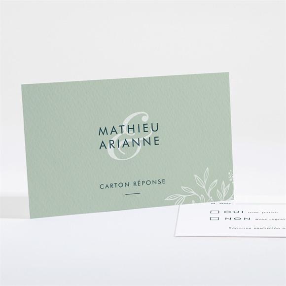 Carton réponse mariage Esquisse argentée réf.N161103
