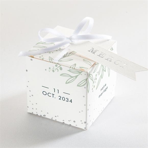 Boîte de dragées mariage Esquisse argentée réf.N340292