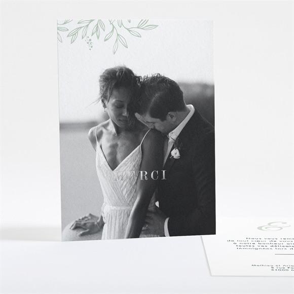 Remerciement mariage Esquisse argentée réf.N28118