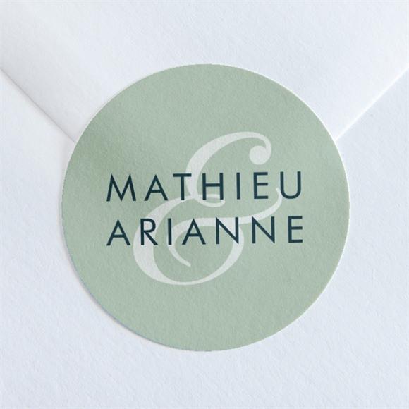 Sticker mariage Esquisse argentée réf.N36053