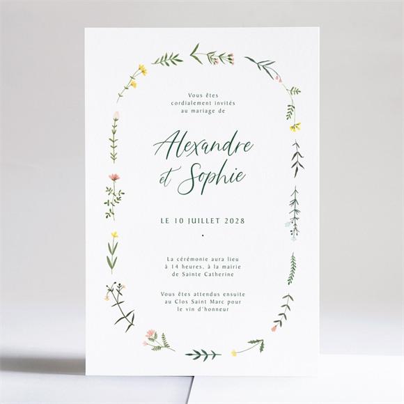 Faire-part mariage La Ronde des Fleurs réf.N241198