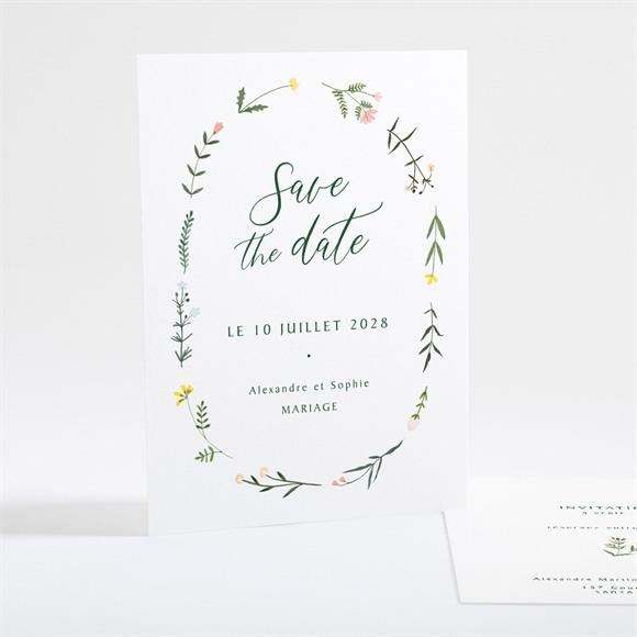 Save the Date mariage La Ronde des Fleurs réf.N25106