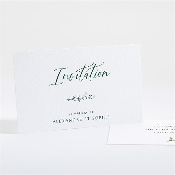 Carton d'invitation mariage La Ronde des Fleurs réf.N161104