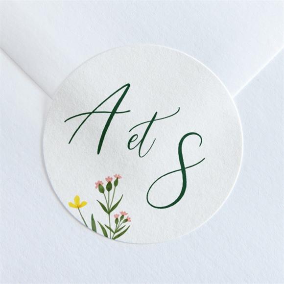Sticker mariage La Ronde des Fleurs réf.N36054