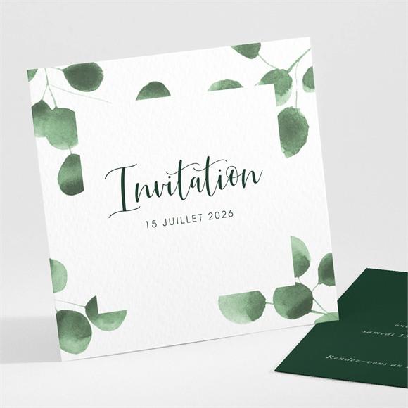 Carton d'invitation mariage Fraîcheur végétale réf.N301241