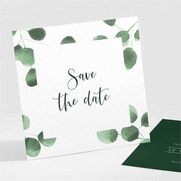 Save the Date mariage Fraîcheur végétale réf.N301206