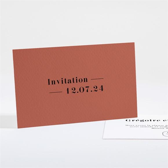 Carton d'invitation mariage Terracotta réf.N161108