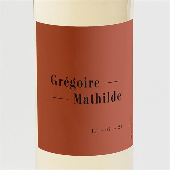 Etiquette de bouteille mariage Terracotta réf.N3001609