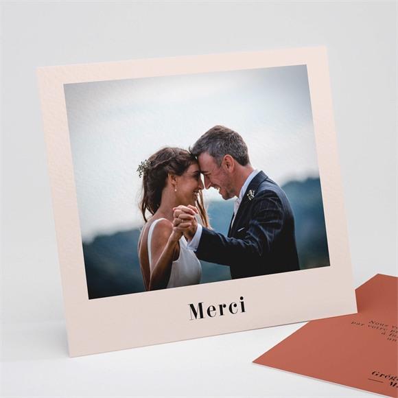 Remerciement mariage Terracotta réf.N311256