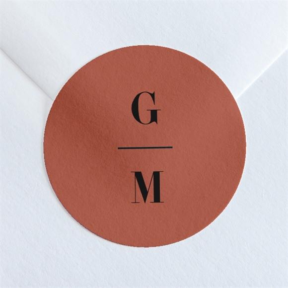 Sticker mariage Terracotta réf.N36057