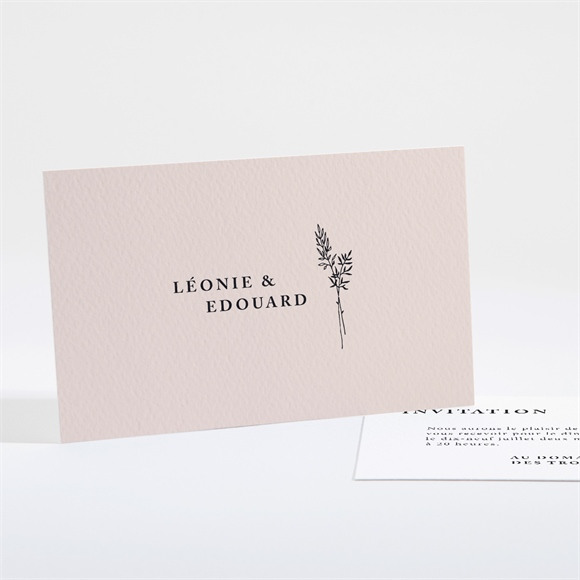 Carton d'invitation mariage Delicatesse réf.N161110