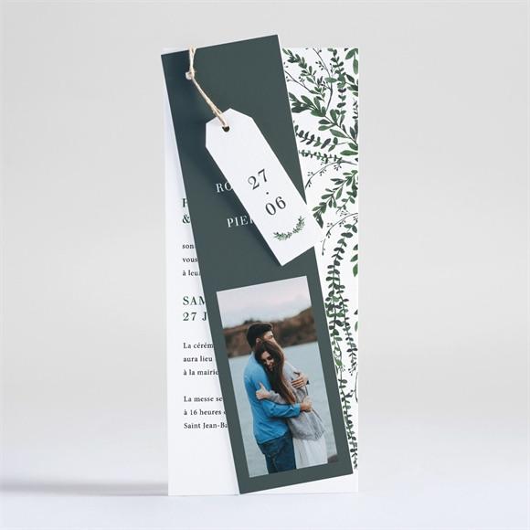 Faire-part mariage Fusion végétale réf.N93124