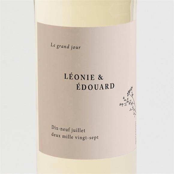 Etiquette de bouteille mariage Delicatesse réf.N3001610