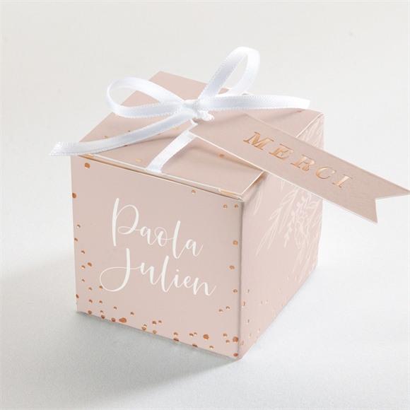 Boîte de dragées mariage Poésie Cuivrée réf.N340297