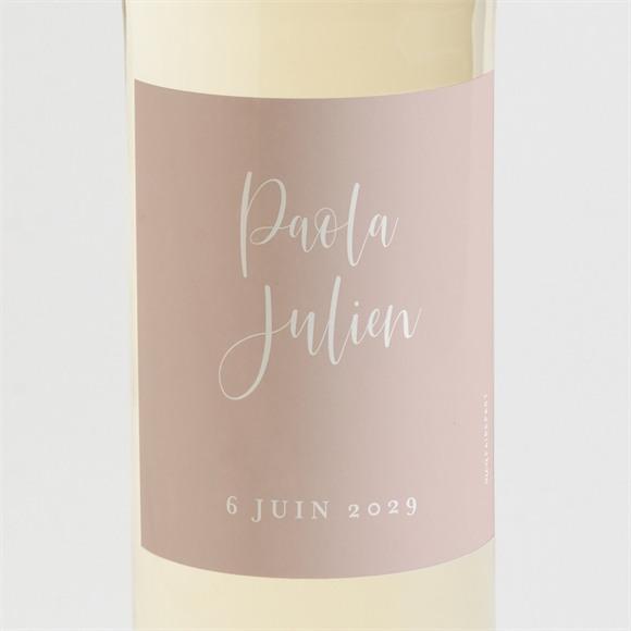 Etiquette de bouteille mariage Poésie Cuivrée réf.N3001611