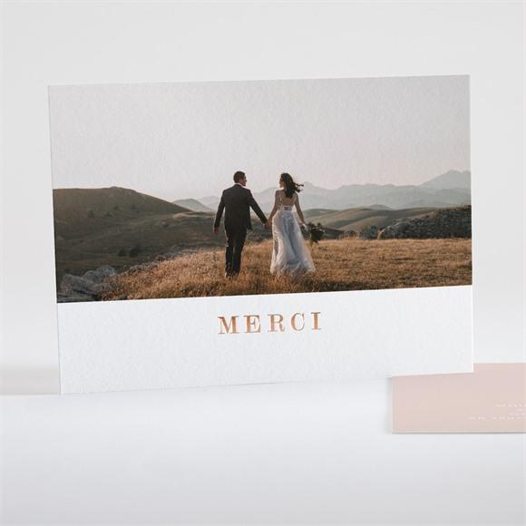Remerciement mariage Poésie Cuivrée réf.N18133