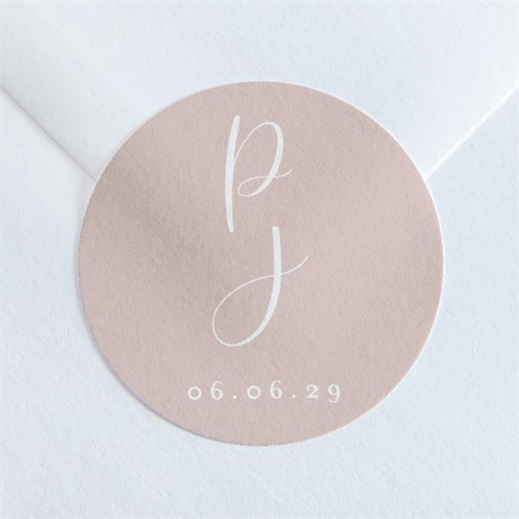 Sticker mariage Poésie Cuivrée réf.N36059