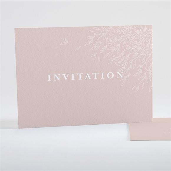 Carton d'invitation mariage Poésie Cuivrée réf.N15114