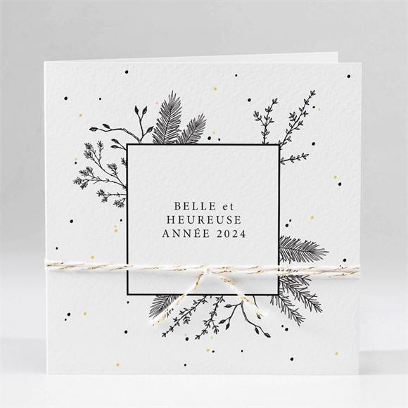 Carte de voeux Voeux jolie gravure et cordon réf.N451173