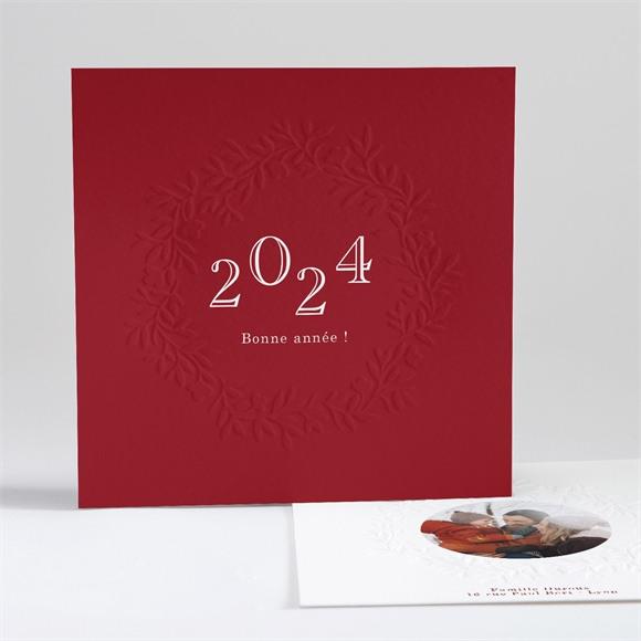 Carte de voeux Voeux Rouge réf.N351102