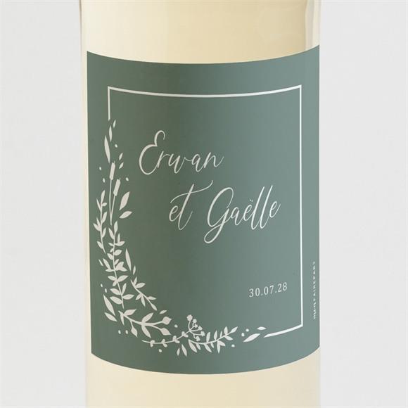 Etiquette de bouteille mariage Elégante Poésie réf.N3001612