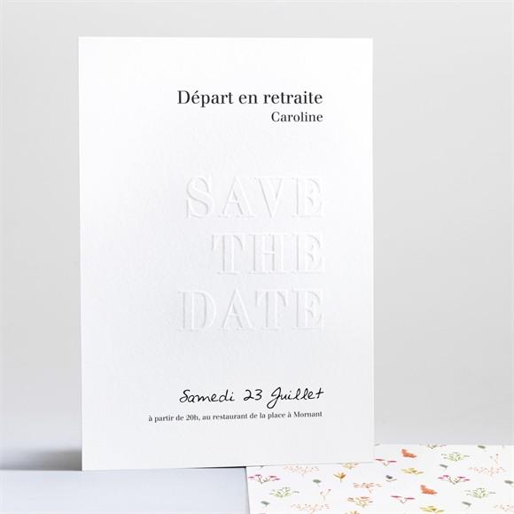 Carte invitation départ à la retraite Gravé réf.N241214
