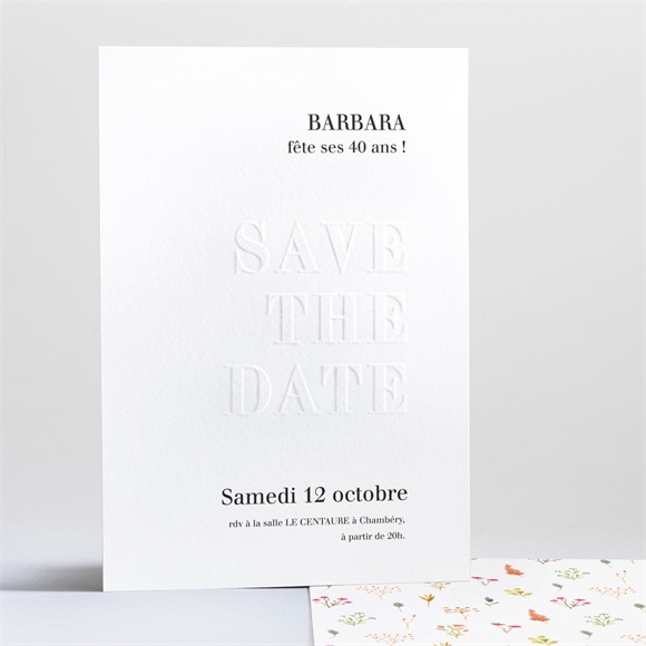 Invitation anniversaire Save it réf.N241215