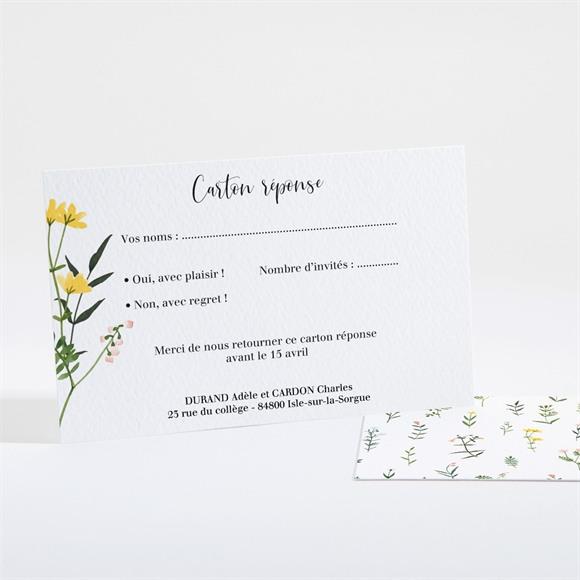 Carton réponse mariage Joie et couleurs réf.N161122